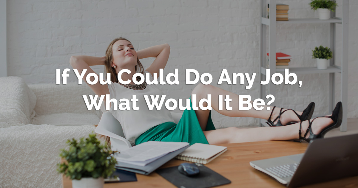 If You Could Do Any Job, What Would It Be? - David Wygant